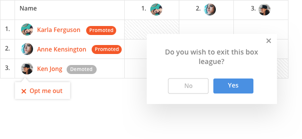 sportyHQ Let players opt in or out of your box league