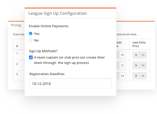 sportyHQ Online registration and payment